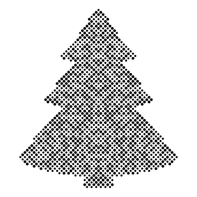 Éléments tramés de conception d'arbre de Noël illustration libre de droits