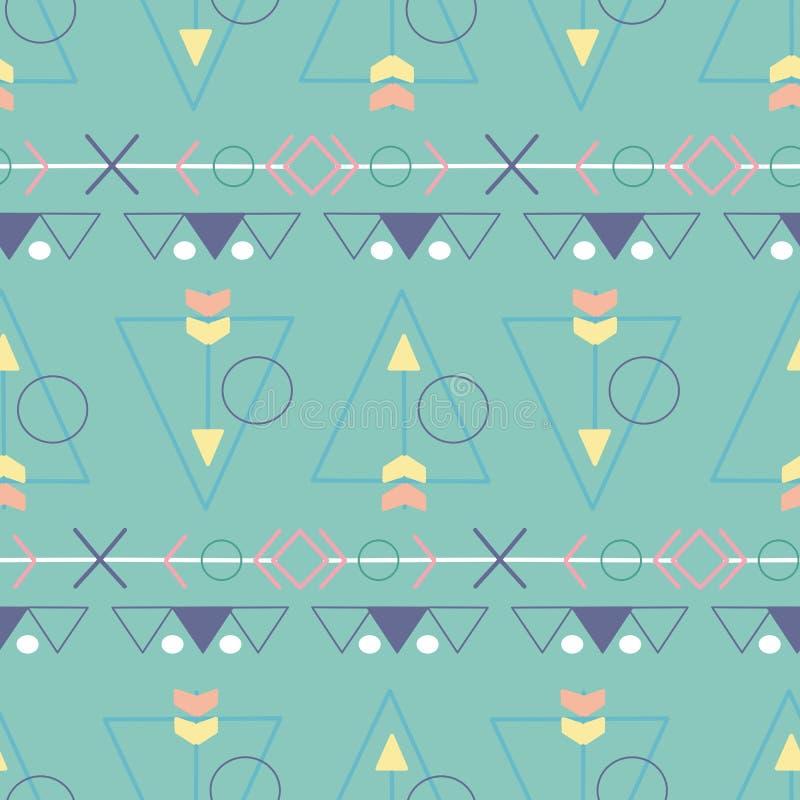 Éléments tribals en pastel dans une conception sans couture de modèle illustration de vecteur