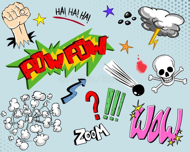 Éléments un de bande dessinée illustration libre de droits