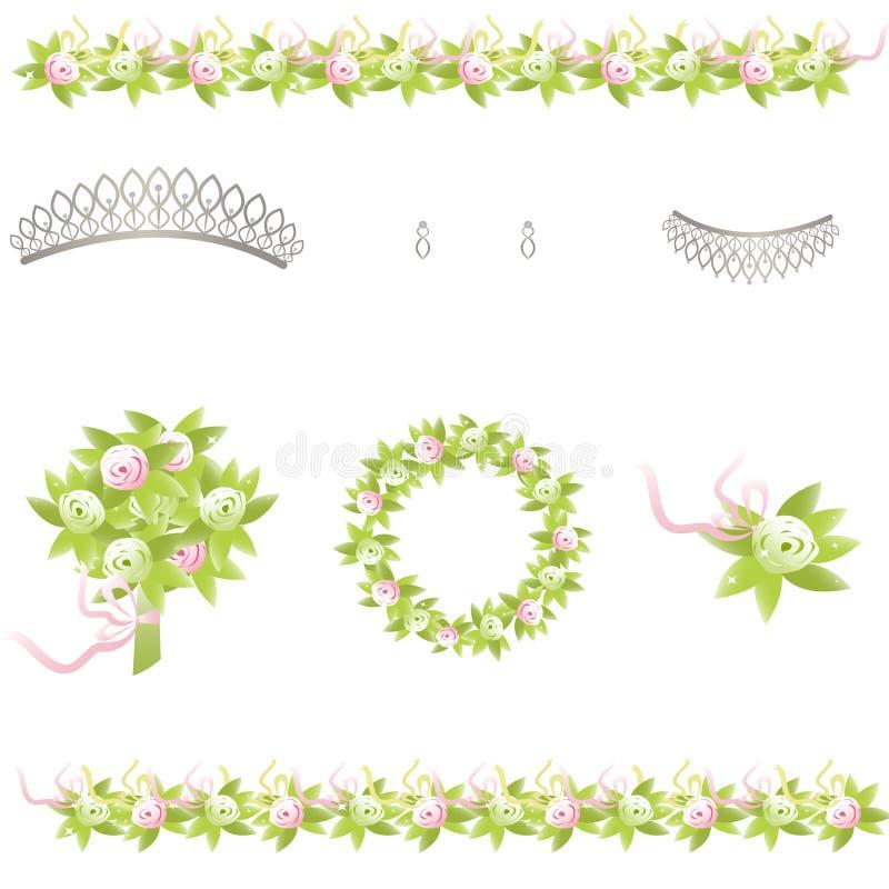 Éléments Wedding de conception illustration libre de droits