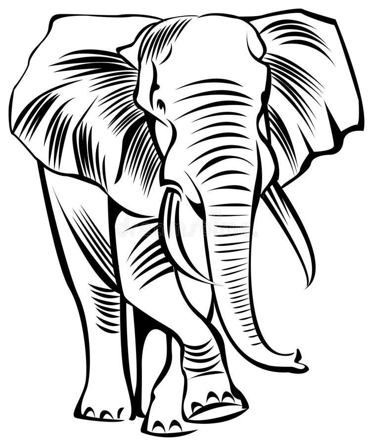 Éléphant illustration stock