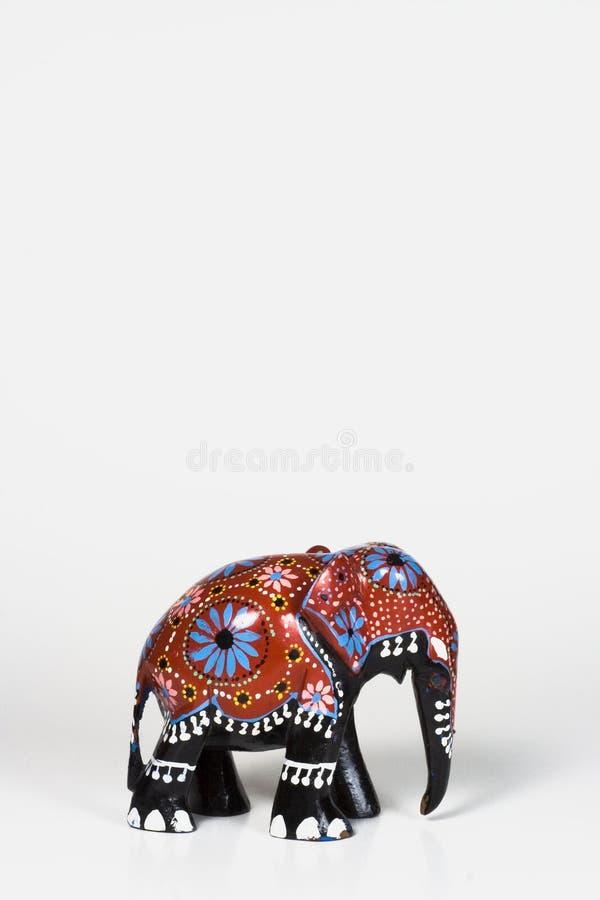 Éléphant africain en bois - petit photographie stock libre de droits