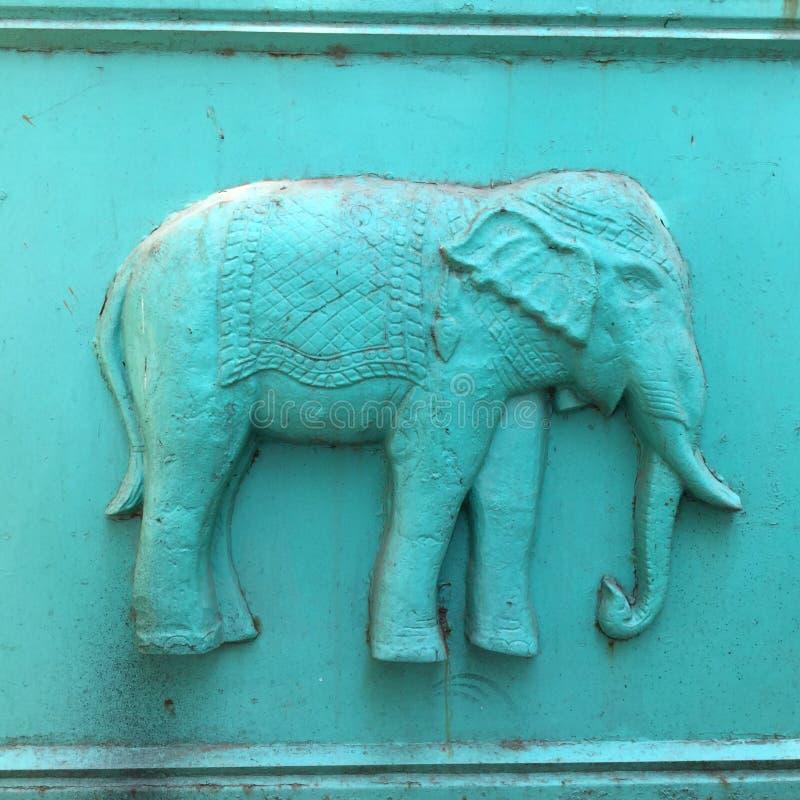 Éléphant bleu images libres de droits