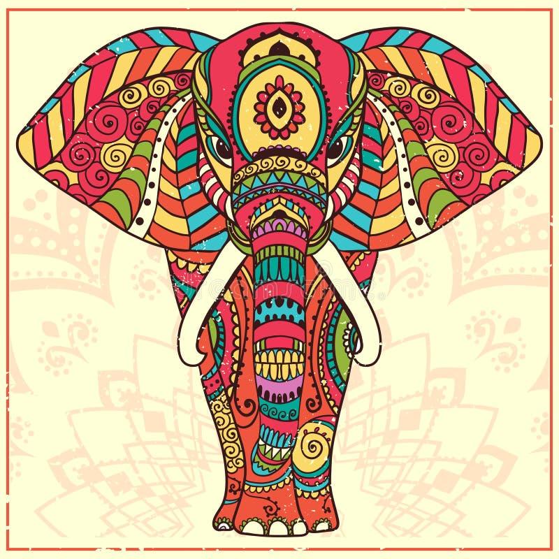 Éléphant-Couleur Illustration De Vecteur. Image Du Exotique - 67008147