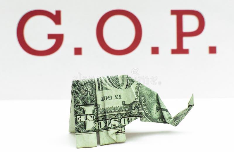 Éléphant d'argent de GOP photos libres de droits