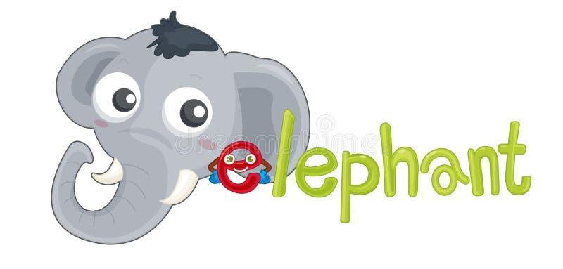 éléphant d'e illustration stock
