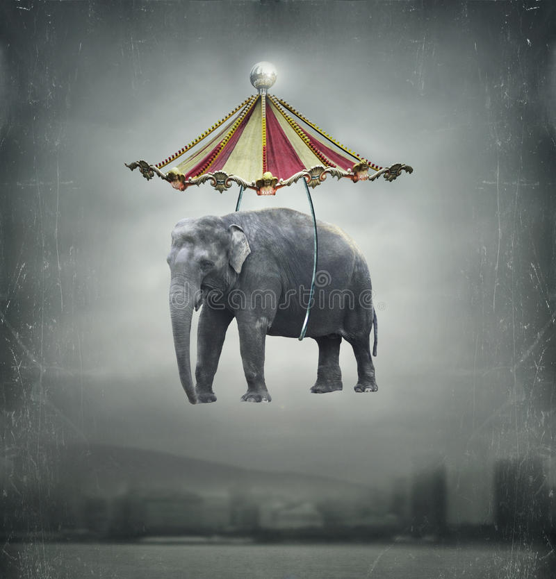 Éléphant d'imagination illustration de vecteur