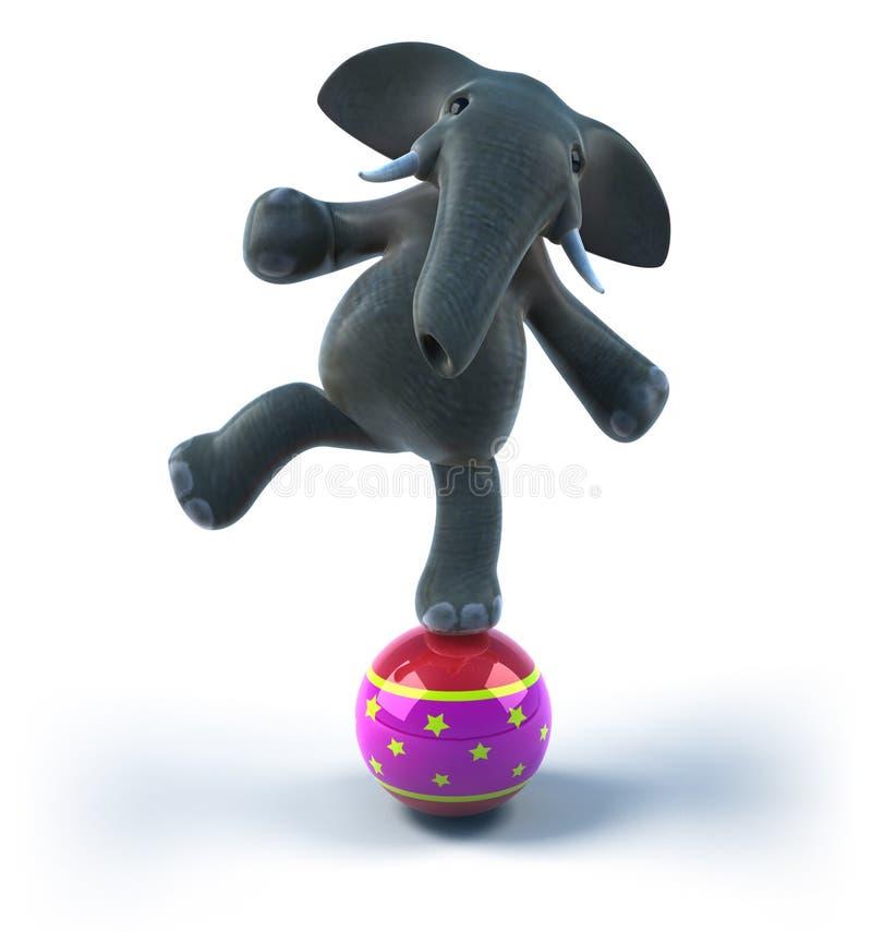 Éléphant dans un cirque illustration stock