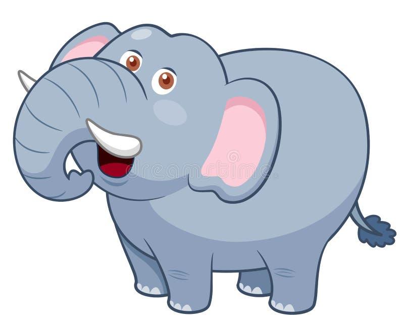 Éléphant de bande dessinée illustration de vecteur