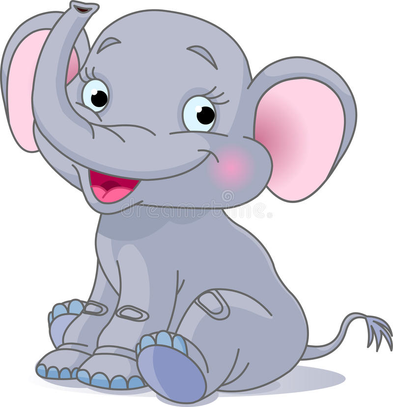 Éléphant de chéri illustration stock