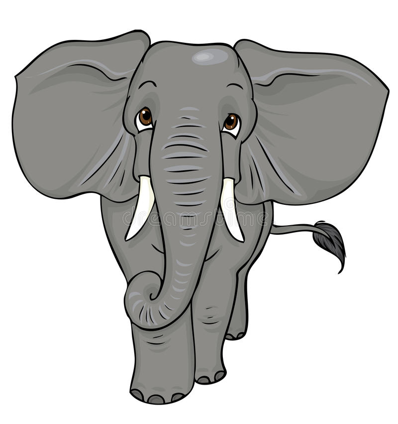 L phant de dessin anim illustration stock illustration - Elephant en dessin ...