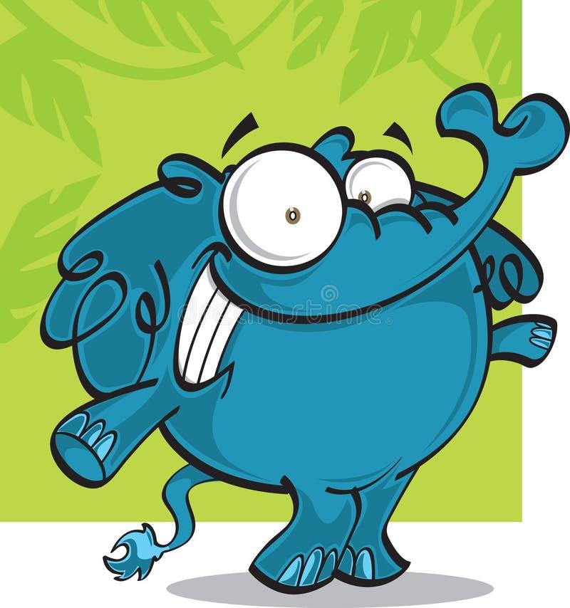 Éléphant de dessin animé image libre de droits