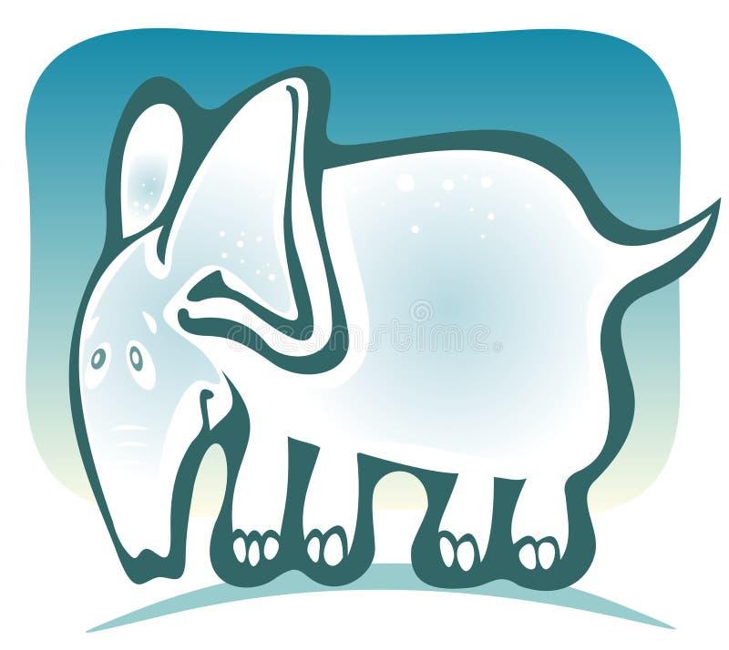Éléphant de dessin animé illustration libre de droits