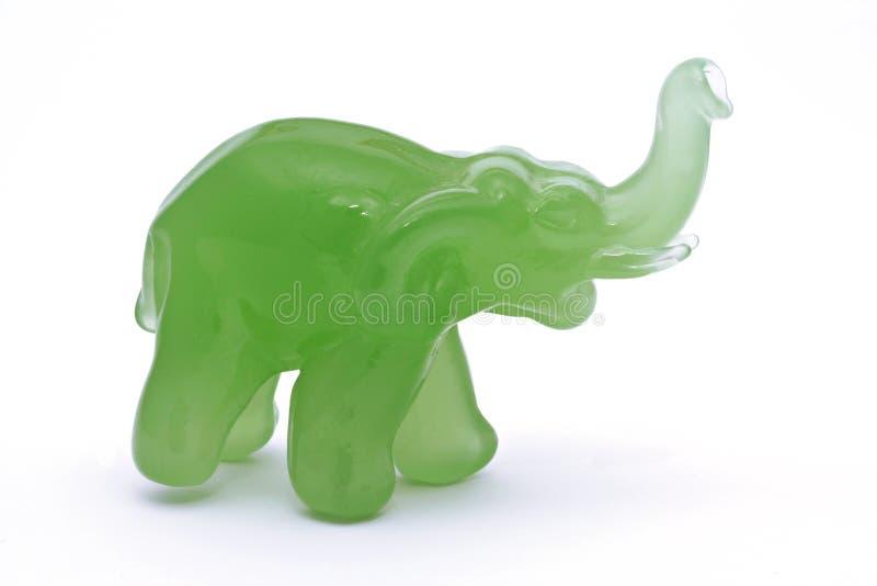Éléphant de jade image libre de droits