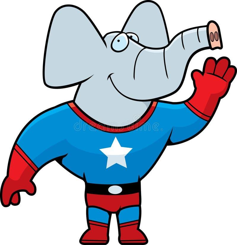 Éléphant de Superhero illustration de vecteur