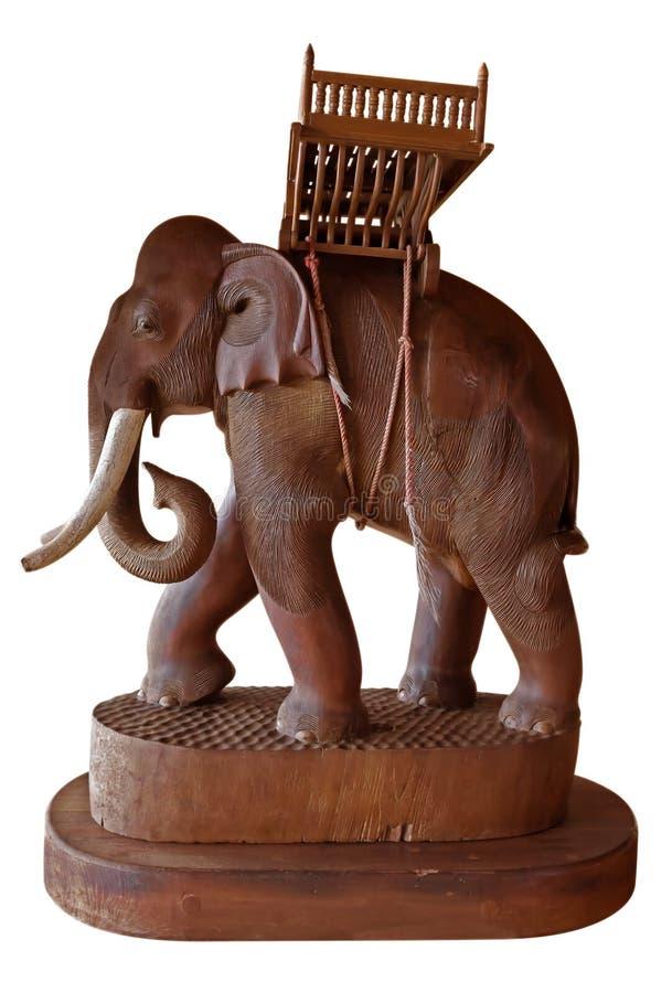 Éléphant en bois image libre de droits