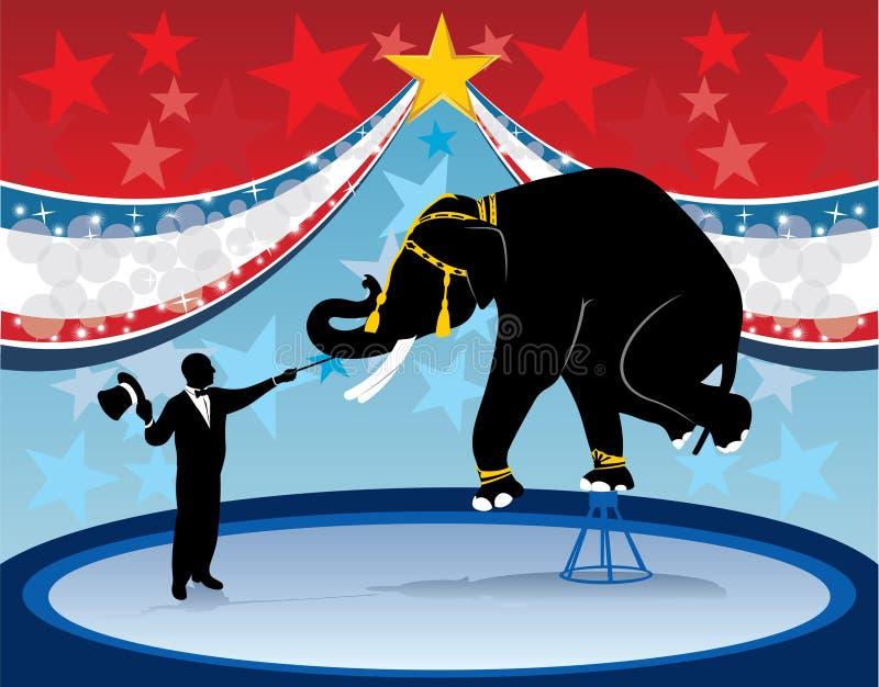 Éléphant et cirque principaux de boucle illustration libre de droits