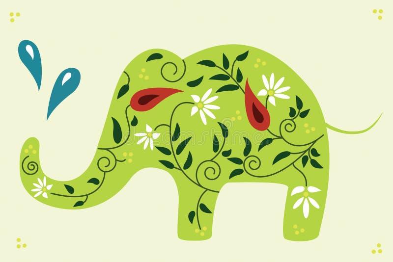 Éléphant floral. photographie stock