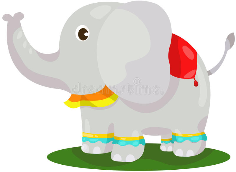 Éléphant mignon illustration stock