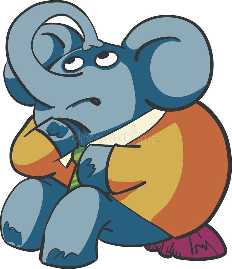 Éléphant pensant photo libre de droits