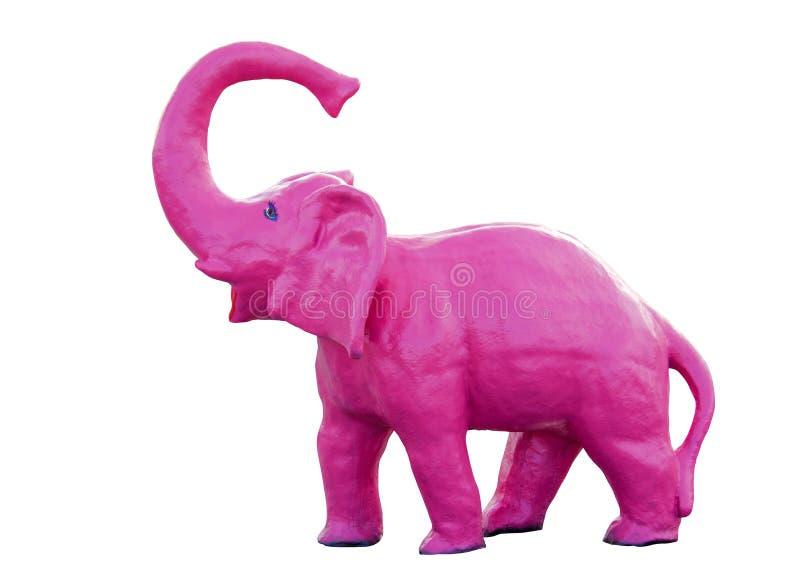 Éléphant rose avec le chemin d'ensemble photographie stock libre de droits