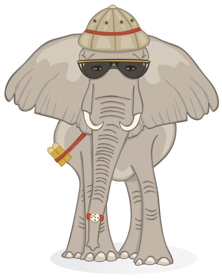 Éléphant sur le safari illustration libre de droits