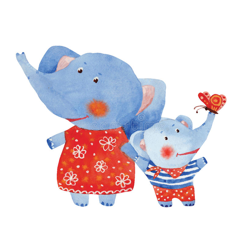 éléphants illustration stock