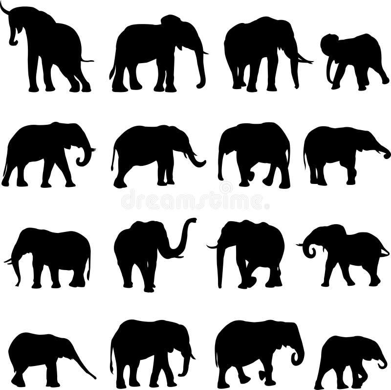 Éléphants africains illustration de vecteur