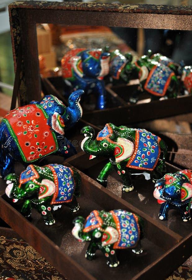 Éléphants d'Asie image libre de droits