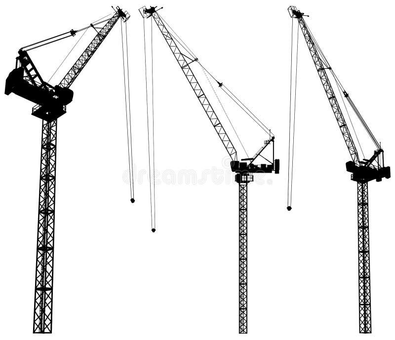 Élévation du vecteur 02 de grue de construction illustration libre de droits
