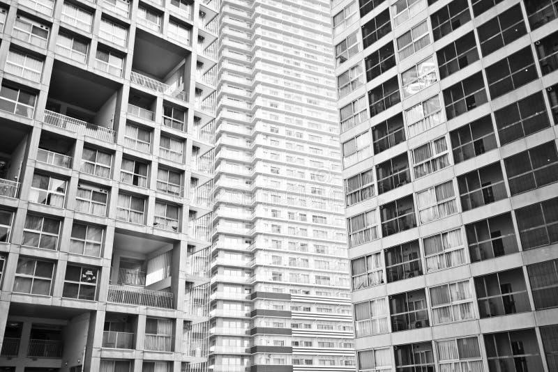 élévation haut résidentielle d'appartement photos libres de droits