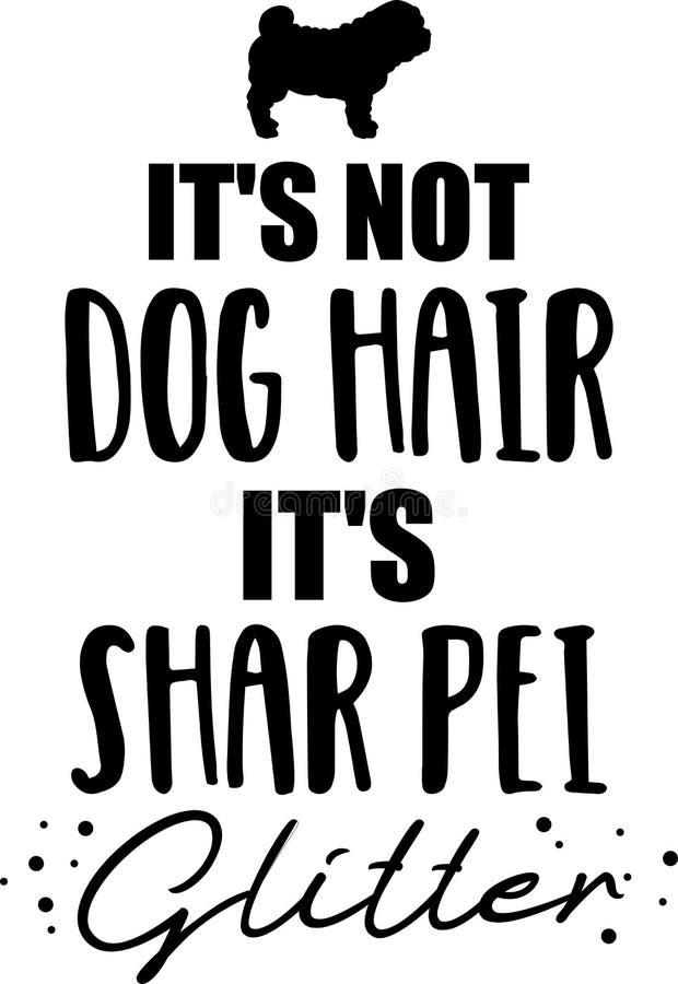 Él \ 'pelo de perro de s no, él \ 'brillo de s Shar Pei libre illustration