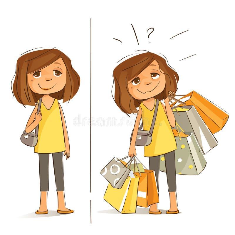Él día de las compras del ` s imagen de archivo libre de regalías