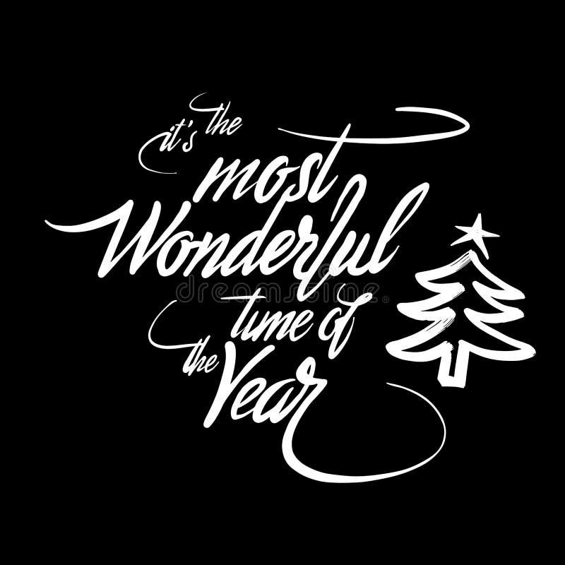 Él ` s la época más maravillosa del año stock de ilustración