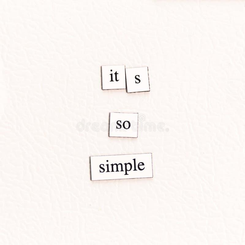 Él ` s tan simple fotografía de archivo