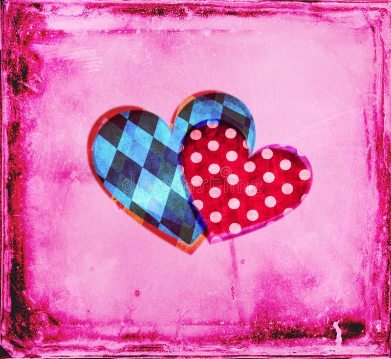 Él y ella corazones imagen de archivo libre de regalías