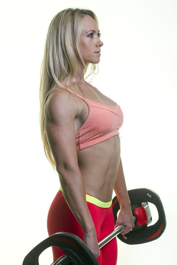 Élaboration blonde de femme images stock