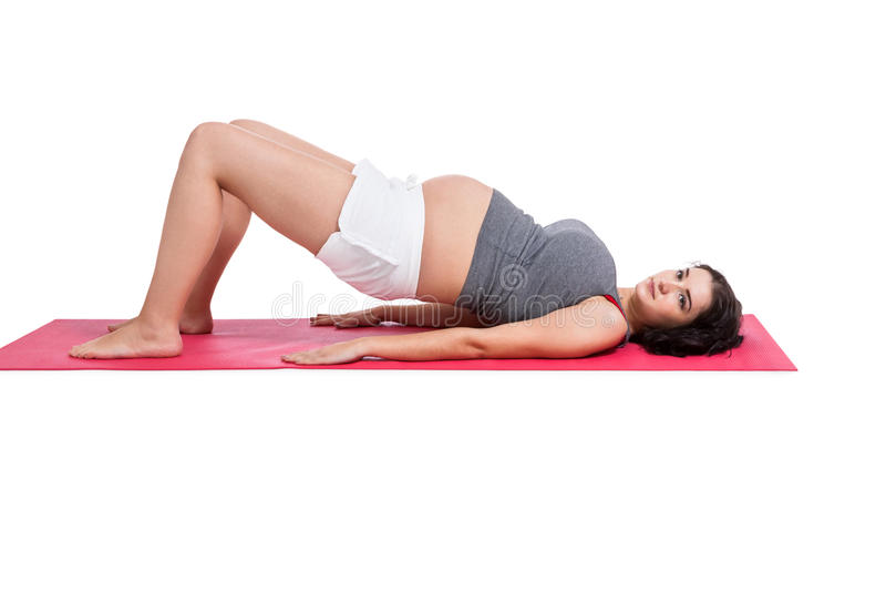 Élaboration de femme enceinte d'Active images libres de droits