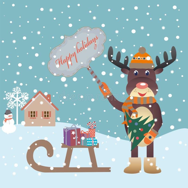 Élans de Noël images libres de droits