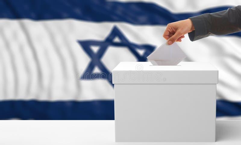 Électeur sur un fond de drapeau de l'Israël illustration 3D illustration libre de droits