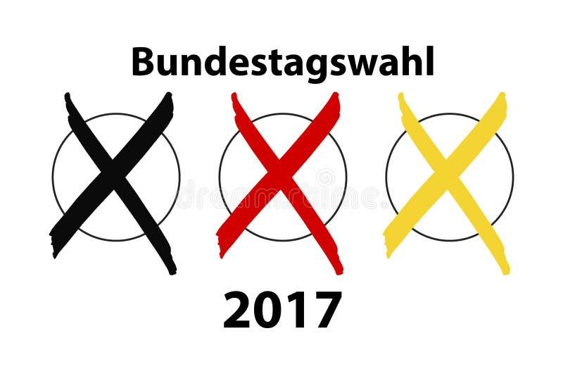 Élection allemande 2017 illustration de vecteur
