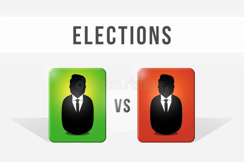 Élection, choix entre les deux candidats illustration de vecteur