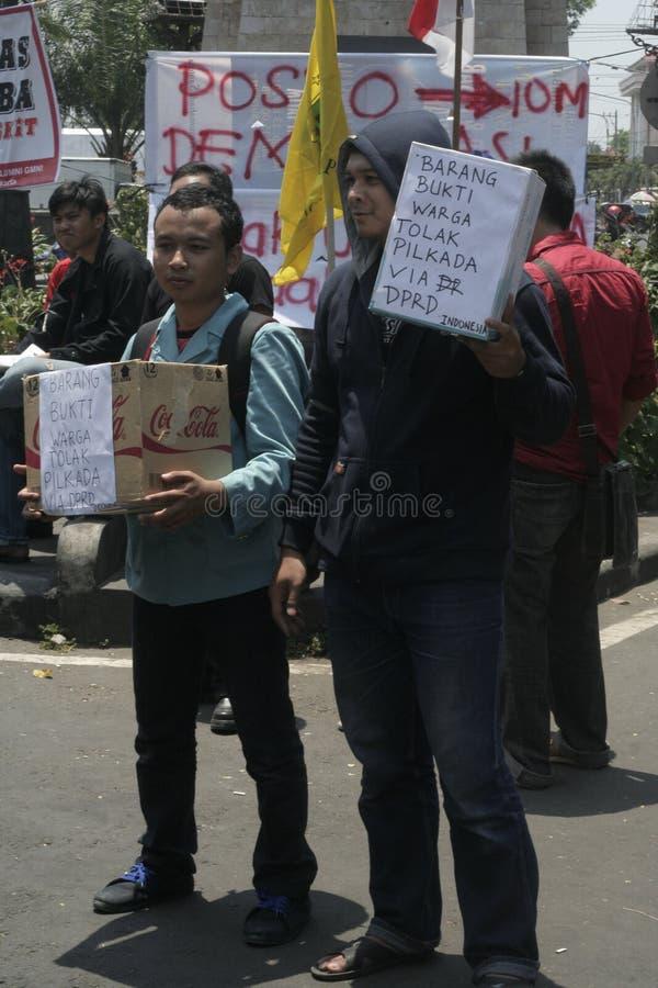 élection d'actions d'étudiant en droit de démenti photos stock