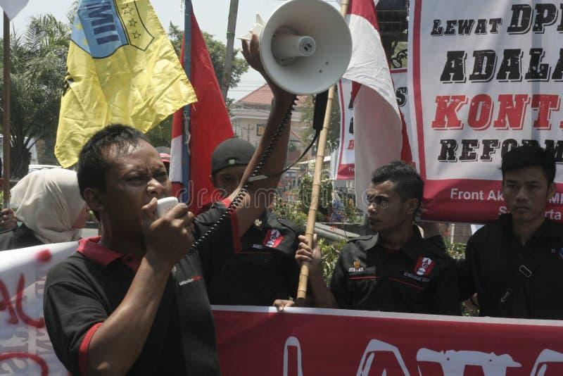 élection d'actions d'étudiant en droit de démenti photo libre de droits