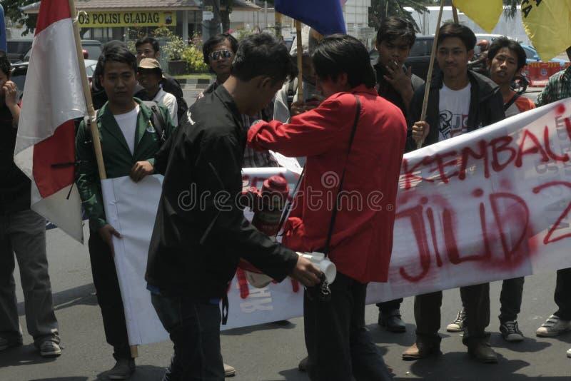 élection d'actions d'étudiant en droit de démenti photos libres de droits