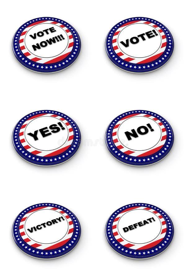 élection de ramassage de bouton illustration de vecteur