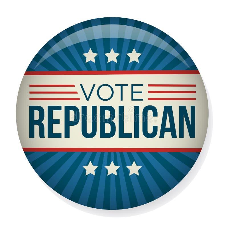 Élection Pin Button de campagne de vote ou de vote ou insigne illustration libre de droits