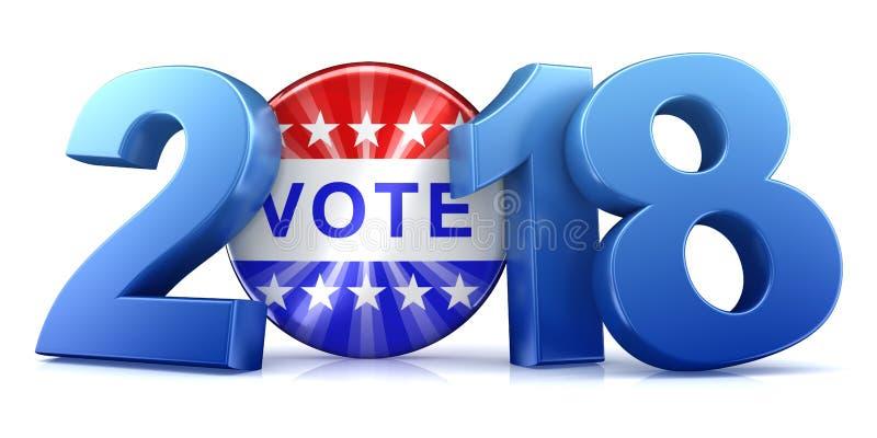 2018 élection - rendu 3d illustration libre de droits