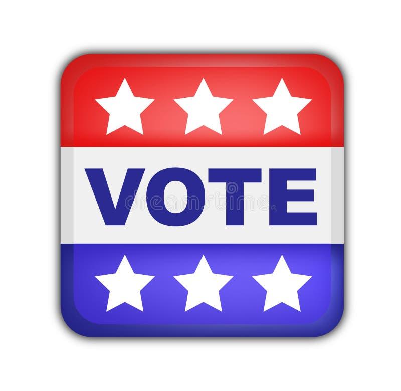 élections américaines de bouton présidentielles illustration de vecteur