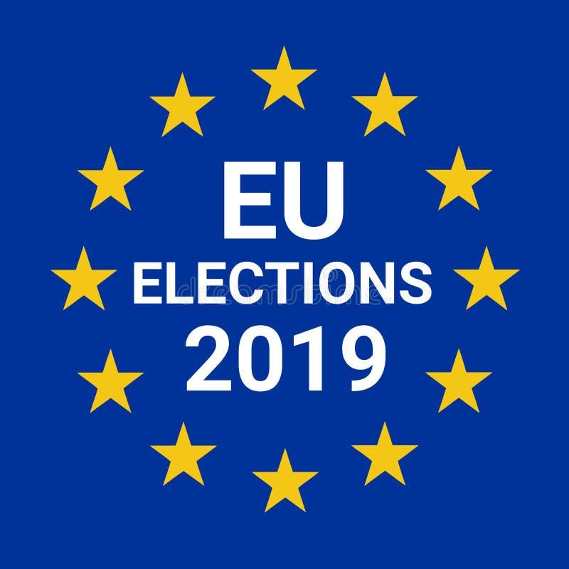 Élections 2019 d'Union européenne illustration de vecteur